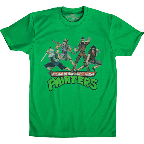Teenage mutant ninja turtles artists t shirt renaissance for Turtle t shirts online