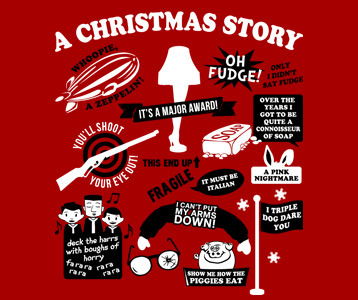 a christmas story quotes t shirt 1980s