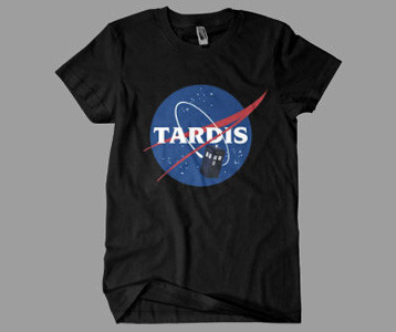 Doctor Who Tardis Nasa Logo T-Shirt