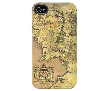 lord of the rings middle earth map iphone case
