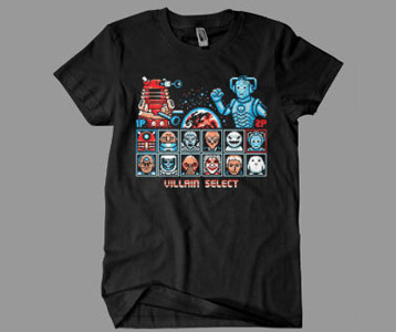 Doctor Who Villains Street Fighter T-Shirt
