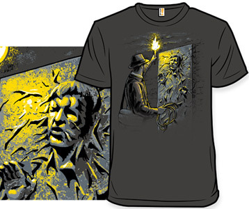 Indiana Jones Han Solo Carbonite T Shirt Starcheology Shirt