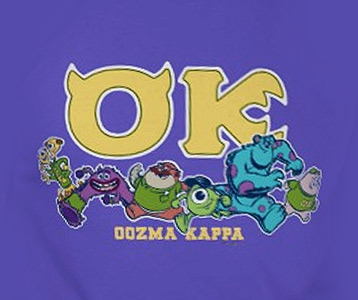 Oozma Kappa T Shirt Monsters University Mike And Sulley Fraternity