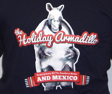 Christmas Armadillo Friends.Friends Holiday Armadillo T Shirt