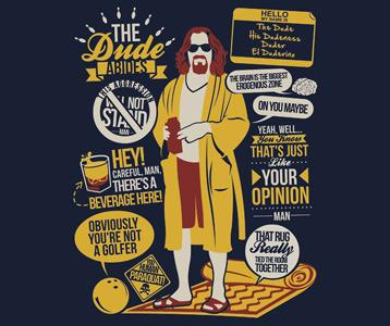 Big Lebowski Quotes Big Lebowski Quotes T Shirt   The Dude Quotes Collage Shirt Big Lebowski Quotes