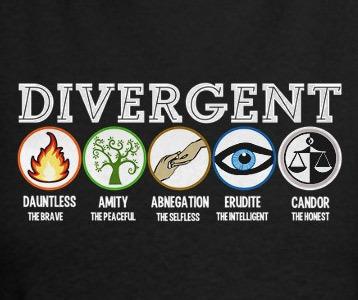 divergent factions tshirt divergent movie factions