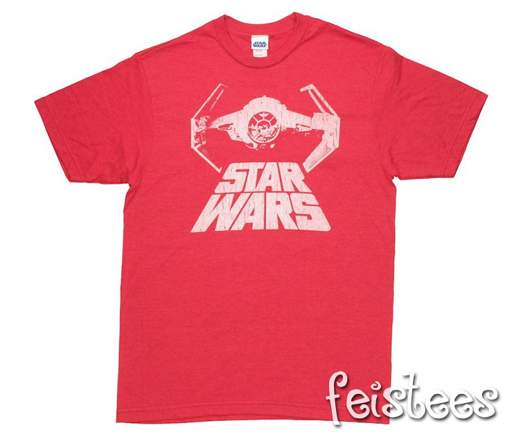 May The 4th Be With You Sheldon Cooper: Sheldon Cooper's Red Star Wars TIE Fighter Advanced X1 T-Shirt