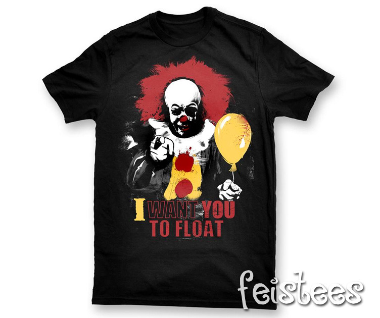 Stephen Kings It Pennywise Circus T-shirt Men's Clothing Tops & Tees