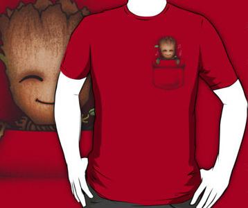 e1e1895872 Baby Groot T-Shirt - Pocket Groot
