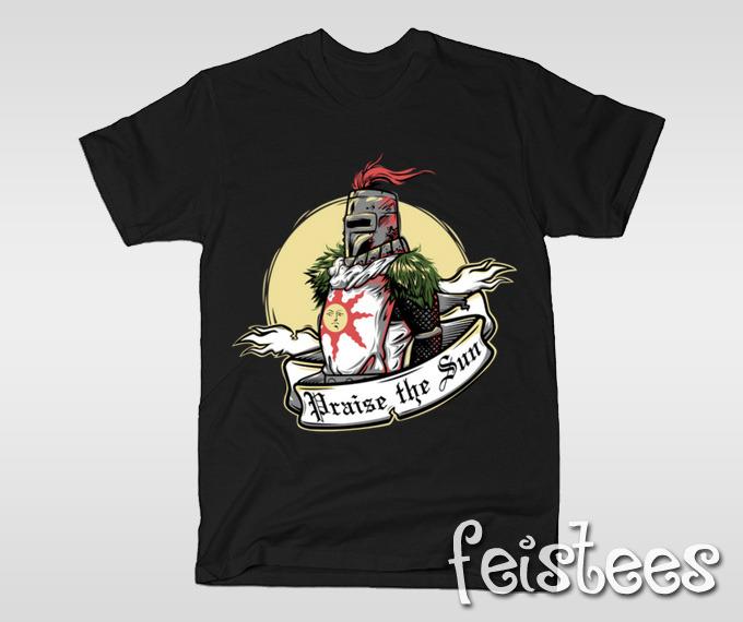 8d22e6f5f Praise the Sun Dark Souls T-Shirt - Solaire of Astora Shirt