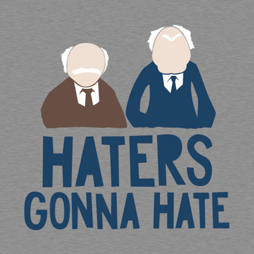 Statler And Waldorf Haters Gonna Hate Vintage T Shirt