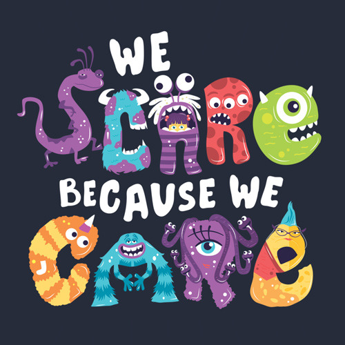 Monsters, Inc. We Scare Because We Care T-Shirt