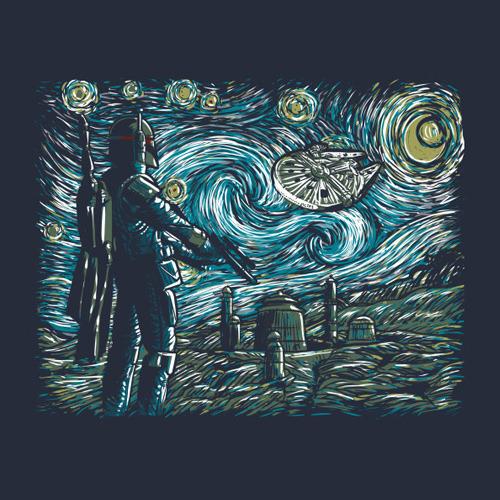 Star Wars Starry Night Shirt Starry Wars T Shirt