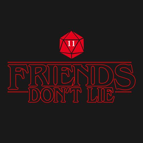 fe7be24b Friends Don't Lie Stranger Things T-Shirt. Stranger Things