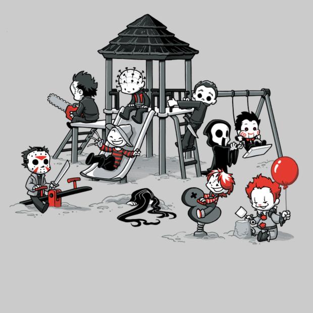 Horror Park Cute Horror Movie Villains T Shirt