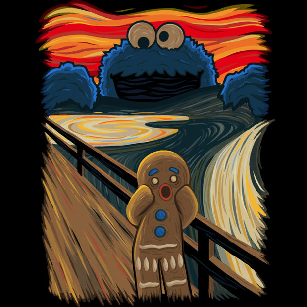 7c91cab43674 Cookie Monster The Scream T-Shirt