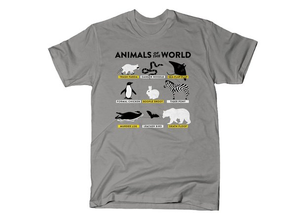 dc2ee5ae Funny Animal Nicknames Shirt - Animals of the World T-Shirt