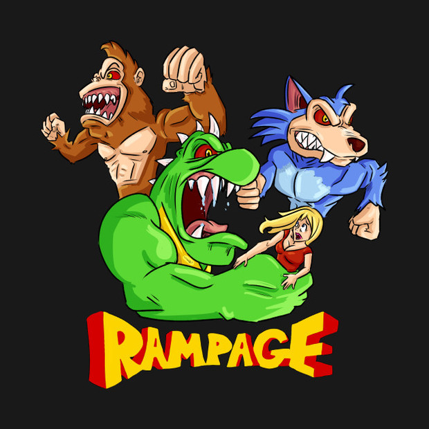 Rampage Video Game T Shirt