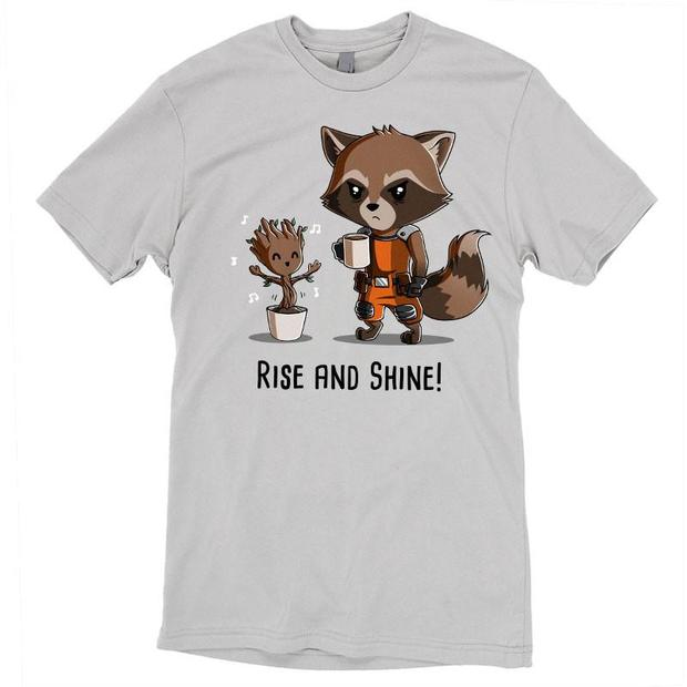 Waking T Groot And Up The Morning In Rocket Raccoon Shirt v0m8nNw
