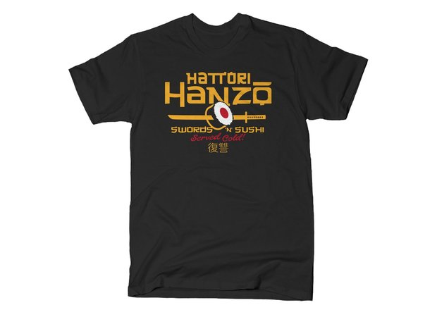 Kill Bill Hattori Hanzo Swords 'n' Sushi T-Shirt