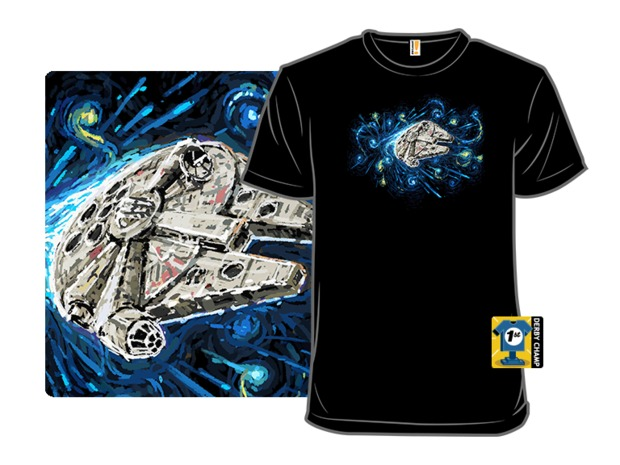 I've Got a Really Good Feeling About This Han Solo T-Shirt - Millennium Falcon Starry Night Shirt