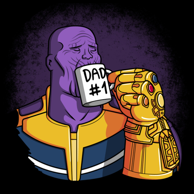 1 Dad Thanos Father's Day T-Shirt - Avengers Infinity War