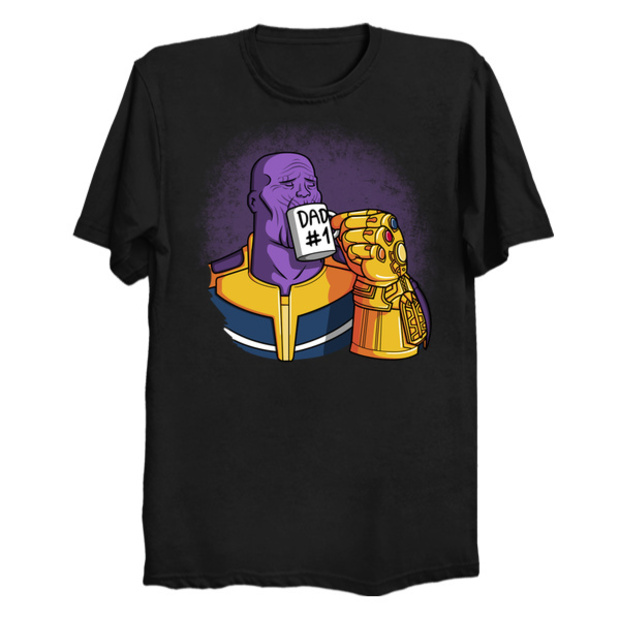 4fde5ad8 #1 Dad Thanos Father's Day T-Shirt - Avengers Infinity War
