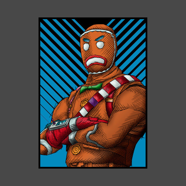 Gingerbread Fortnite Merry Marauder T Shirt