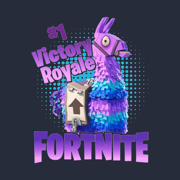 Victory Royale Fortnite Supply Llama T Shirt