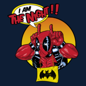 I Am the Night Deadpool Batman T-Shirt