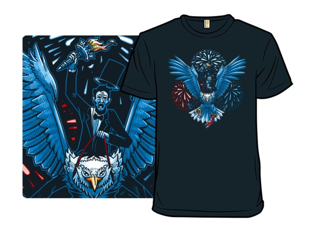 Abraham Lincoln Riding an Eagle 4th of July T-Shirt