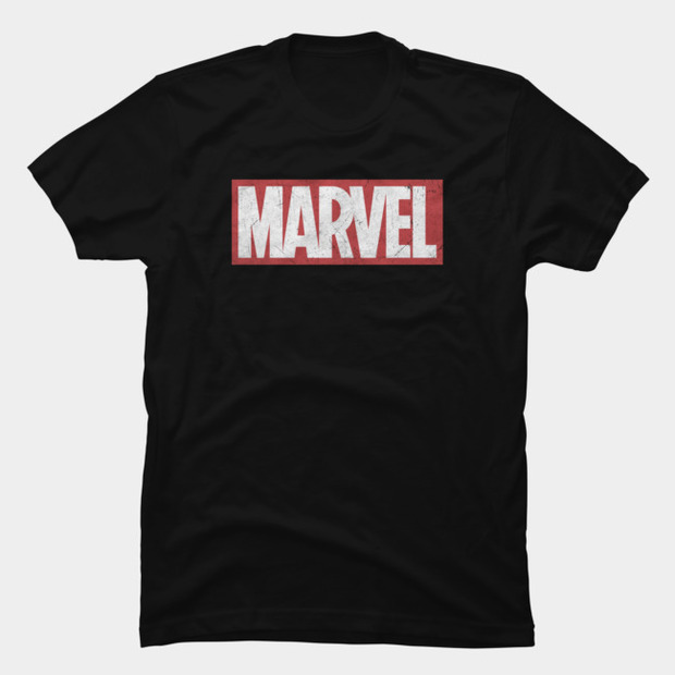 Distressed Marvel Logo T-Shirt