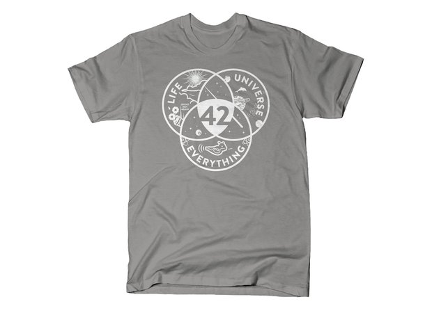Life, the Universe and Everything 42 T-Shirt