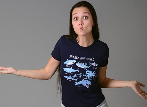 Funny Shark Types T-Shirt - Sharks of the World Shirt