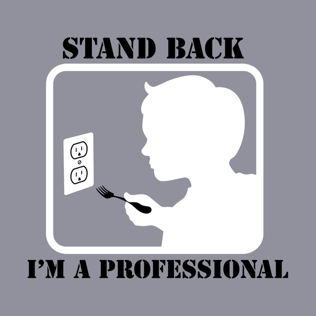 Stand Back, I'm a Professional Fork in Outlet T-Shirt