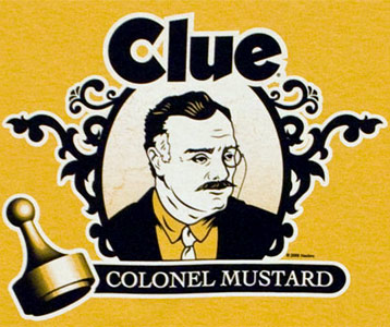 Clue Colonel Mustard t-shirt