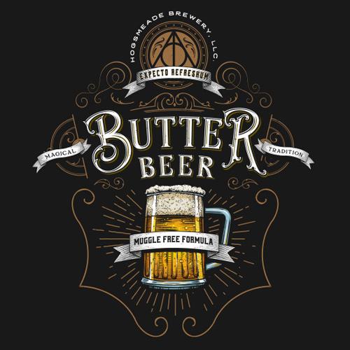 Harry Potter Butterbeer Logo Butterbeer Logo