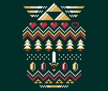 Zelda Christmas T-Shirt – Triforce Holiday Zelda Ugly Sweater Shirt