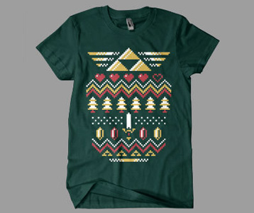 Zelda Christmas T-Shirt – Triforce Holiday Zelda Ugly Sweater Shirt