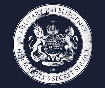 james bond mi6 t shirt her majesty s secret service logo shirt. Black Bedroom Furniture Sets. Home Design Ideas