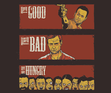 Walking Dead Governor T-Shirt - The Good, The Bad and The Hungry