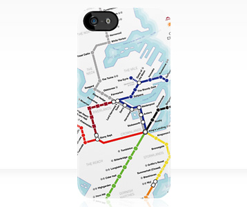 Game of Thrones Westeros Subway Map iPhone Case