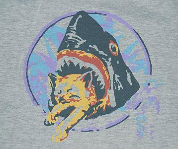 James Franco's This Is the End Shark Eating Cat T-Shirt
