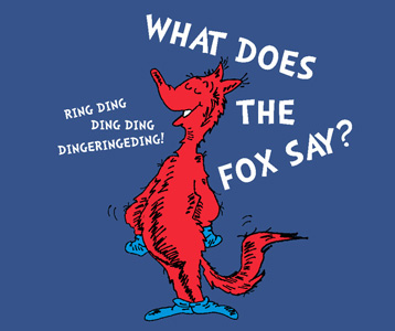 Seuss What Does the Fox in Socks Say T-Shirt