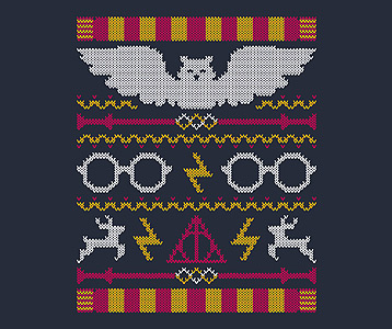 Harry Potter Ugly Christmas Sweater T-Shirt