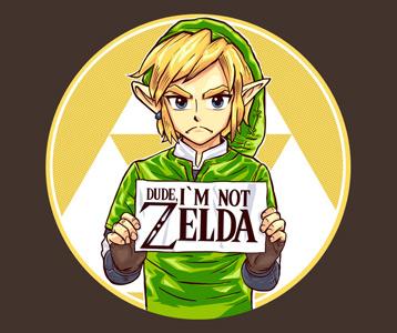 Dude, I'm Not Zelda Link T-Shirt – Legend of Zelda Link Shirt