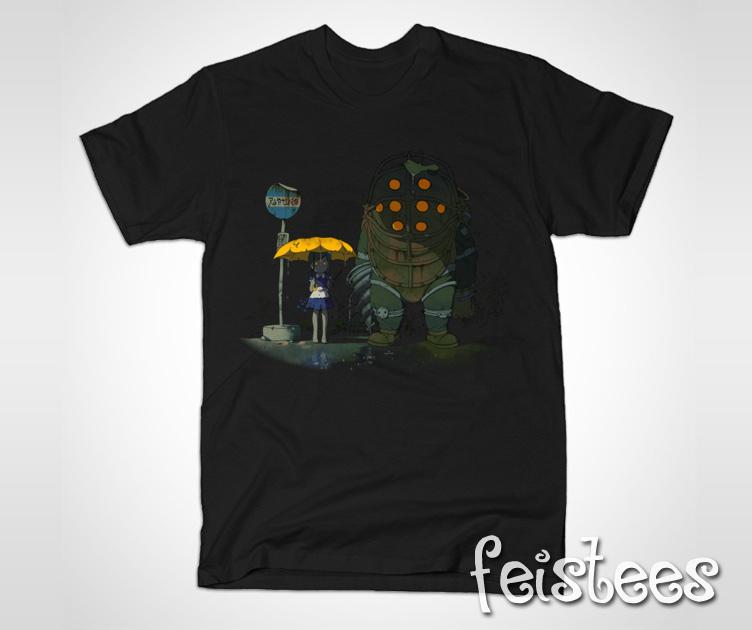 Bioshock Totoro T-Shirt -Bioshock My Neighbor Totoro Shirt