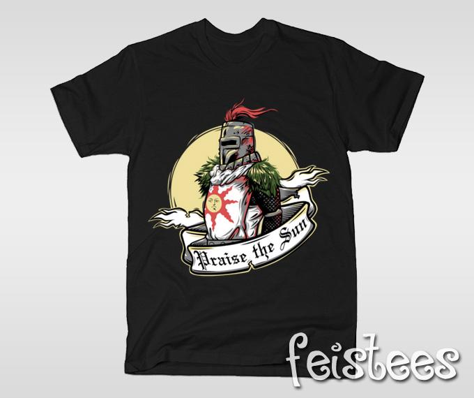 Praise the Sun Dark Souls T-Shirt - 75.1KB