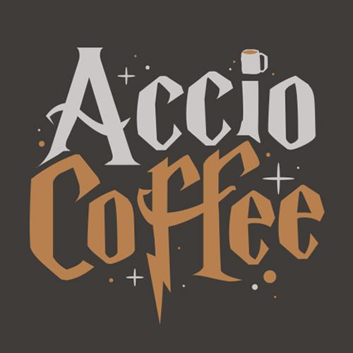 Accio Coffee T-Shirt - Harry Potter Coffee Shirt