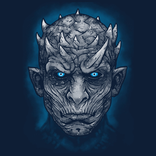 Night King Game Of Thrones T Shirt White Walkers Leader